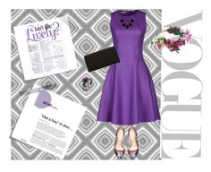 """Purple set"" by kellyplus ❤ liked on Polyvore featuring Post-It, Michael Kors, Bebe, Urban Expressions, Rock 'N Rose, Kenneth Cole, purple, PERFECTION, flower and dress"