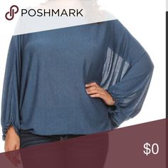 JUST IN!! Gorgeous blue relaxed fit blouse 2X & 3X Just in!! Love this!!!  Super comfy, relaxed style blouse in a gorgeous blue. Blouse has a crew neck, long or 3/4 dolman sleeves with elastic hem - easily adjust to desired length and an elastic hem which created a great blousy effect. This 33/63/4 Rayon/poly/spandex has a great jersey like feel to it, yet is soft and stretchy. Made in the USA!  Size 2X and 3X available at this time.  Model in photos is 5'10 40Dx38x45 Boutique Tops Blouses