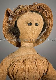 Cloth Doll Exhibit - Gallery 1  This beauty deserved a second pin for a close up.  A great antique folk art site