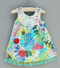 Bordado flores vestido del chaleco de impresión para las niñas, Playa flores vestidos de niña-imagen-Vestidos para chica -Identificación del…