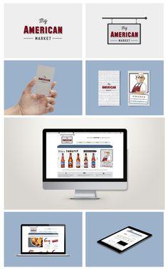 My American Market - Branding, Business Card Design, Web Design and Development