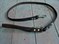 Hondenriem van oude paardenteugels