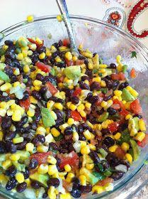 Black bean, corn and avacado salad