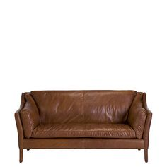 The Dillon High Back 2 Seater Sofa - Leather Sofas - Living Room