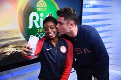 That Moment When Simone Biles Landed a Kiss From Zac Efron While at the Olympics