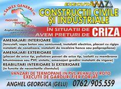 Pret 1 RON - SAMEX GENERAL - executa constructii civile si indistriale.  = AMENAJARI INTERIOARE ( tencuieli, sape beton sau semiumed, instalatii electrice, placari cu r...
