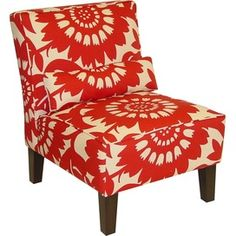 Vibrant Fabric Accent Chair.