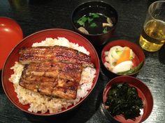 鰻丼 at 新橋市松  Eel rice bowl at Shinbashi Ichimatsu
