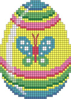 pâques - easter - oeuf - point de croix - cross stitch - Blog : http://broderiemimie44.canalblog.com/