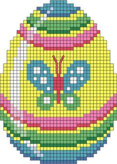 pâques - easter - oeuf - point de croix - cross stitch - Blog : http://broderiemimie44.canalblog.com/