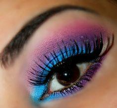 blue purple pink eyeshadow