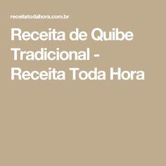 Receita de Quibe Tradicional - Receita Toda Hora