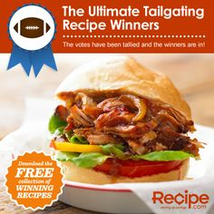 Can't wait to try these out this fall!  Ultimate Tailgating Recipe Winners