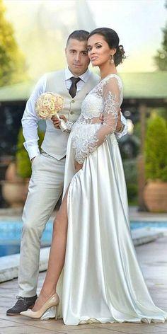 negozio online 4454f a2397 27 fantastiche immagini su Abiti da sposa premaman | Abiti da ...