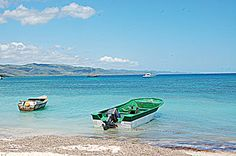 Botes en Punta Rucia, República Dominicana.