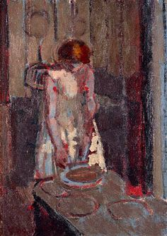 A French Kitchen, c. by Walter Richard Sickert (English, Walter Sickert, Impressionist Artists, Group Art, Portrait Art, Portraits, Figure Painting, Figurative Art, Oeuvre D'art, Art Forms