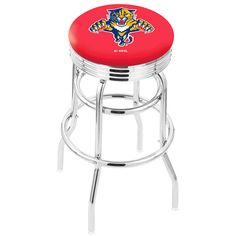 "Florida Panthers 30"" Chrome Double-Ring Base with Ribbed Accent Ring Swivel Bar Stool - $139.00"