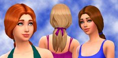 select a Website   : Sea Breeze Hair for Sims 4