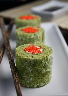 Matcha Cake Sushi Rolls ... also check out the tiramisushi ones!