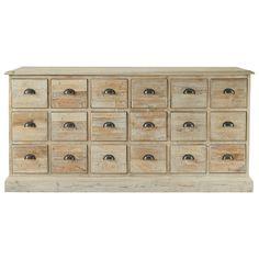 x Cassettiera bianca multi-cassetti a bancone in legno L 133 x85*48 ...
