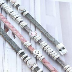Leren armbandjes met mandalaprint en reptile motief #trend #jewellery #jewelry #leather #metal #swarovski
