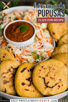 These homemade Central American inspired Pupusas have a thick corn tortilla stuffed flavorful red beans. I share my easy step by step instructions for this delicious recipe.
