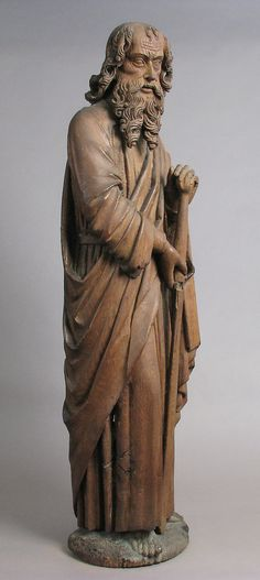 St. Paul.  Date:     late 15th century. Culture:     French. Medium:     Oak, traces of polychromy. Dimensions:     Overall: 44 5/16 x 12 5/8 x 9 1/2 in. (112.6 x 32.1 x 24.1 cm)