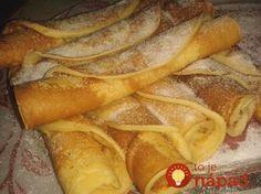 Bögrés francia palacsinta (Crepe a'la francaise) Slovak Recipes, Czech Recipes, Hungarian Recipes, Czech Desserts, Sweet Desserts, Sweet Recipes, Healthy Diet Recipes, Cooking Recipes, Good Food