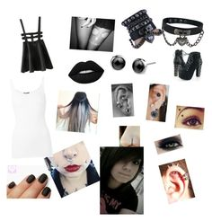 """blak"" by aroainig ❤ liked on Polyvore featuring art"