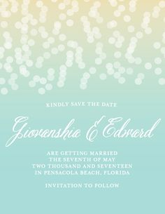 Confetti Ombre Save-the-Date Cards