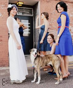Wedding photography with dogs - image by Cheeky Chic Studio