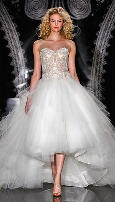 Strapless #high low #weddingdresses can be #custom made for you at a great price. See www.dariuscordell.com