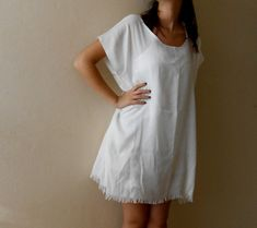 Swimsuit Beach Cover Up Dress simple oversize by boutiqueseragun
