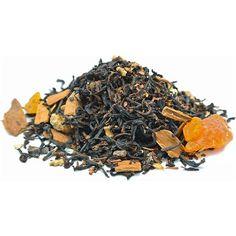 Ginger Peach and Cinamon darjeeling black tea blend - loose tea - black loose leaf tea