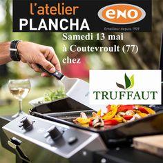 Atelier Plancha ENO samedi 13 mai chez @truffaut  à Coutevroult (77) - Cours de cuisine à la plancha avec un chef pour apprendre à cuisiner sur la Plancha ENO. Conseils et astuces de cuisson et de nettoyage. Cours de cuisine sur réservation auprès du magasin au 01 64 17 19 90