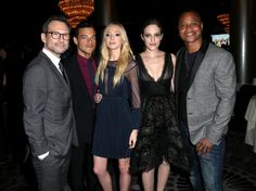 'Mr. Robot' Season 2 cast Christian Slater, Rami Malek, Portia Doubleday, Carly Chaikin and Cuba Gooding Jr. attend the 32nd annual Television Critics Association Awards.