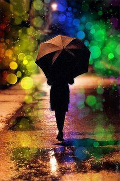 Luz na chuva