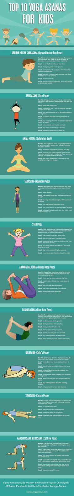 Top !0 #Yoga Asanas For kids