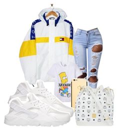 """✨$avage✨"" by yung-vona ❤ liked on Polyvore featuring Tommy Hilfiger, ElevenParis, MCM and NIKE"