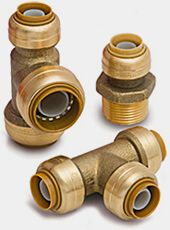 Cut repair and install time in half with SharkBite Plumbing Products. Explore our complete line of reliable plumbing fittings, PEX pipe, valves, adapters and more. Pex Plumbing, Bathroom Plumbing, Bathroom Faucets, Tiny Bathrooms, Small Bathroom, Bathroom Ideas, Leaking Pipe, Plumbing Installation, Metal Garages