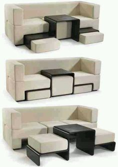Moveable couch pieces in black & white # furniture #design