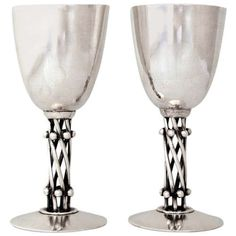 Six William Spratling Sterling Silver Pair Of Stemmed Cocktail Goblets Vintage Silver, Antique Silver, Vintage Kitchenware, Precious Metals, Decorative Accessories, Metal Working, Barware, Silver Jewelry, Silver Ring