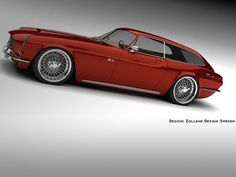 Acclaimed designer stretches classic Volvo to a sporting brake and adds a pinch of modern styling.