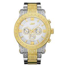 JBW Men's J6336D Lynx .80 ctw Stainless Steel Diamond Watch