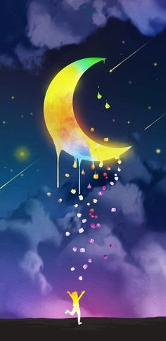 Lovely Eyes, Beautiful Moon, Iphone Wallpaper, Wallpaper Backgrounds, Wallpapers, Psychedelic Art, Stars And Moon, Graphic Design Inspiration, Glow