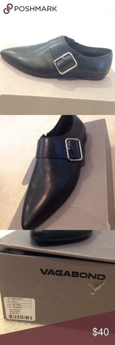 Vagabond leather buckle shoe Brand new with box Vagabond Shoes Flats & Loafers