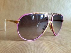 Alpina M1 Pink & Gold Vintage Sunglasses by FrenchPartofSweden