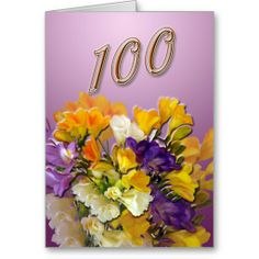 >>>best recommended          Freesias Happy 100th Birthday Greeting Card           Freesias Happy 100th Birthday Greeting Card we are given they also recommend where is the best to buyShopping          Freesias Happy 100th Birthday Greeting Card Review from Associated Store with this Deal...Cleck link More >>> http://www.zazzle.com/freesias_happy_100th_birthday_greeting_card-137243850548878887?rf=238627982471231924&zbar=1&tc=terrest