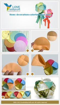Home decorations-colorful paper balls