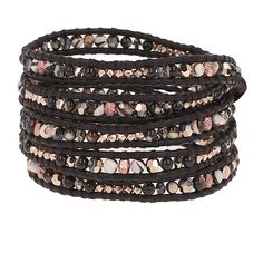 Brown Mother of Pearl Mix Wrap Bracelet - Chan Luu